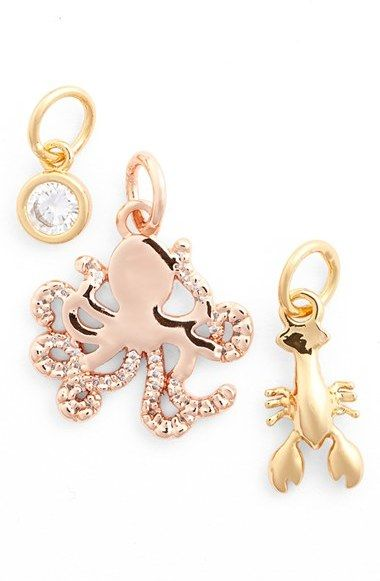 BaubleBar 'Just Keep Swimming' Charms (Set of 3)