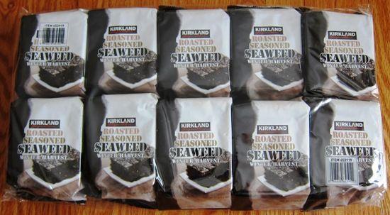 Kirkland Roasted Seaweed Dried Seaweed Snacks From Costco Seaweed Snacks Dried Seaweed Snack Roasted Seaweed Snack