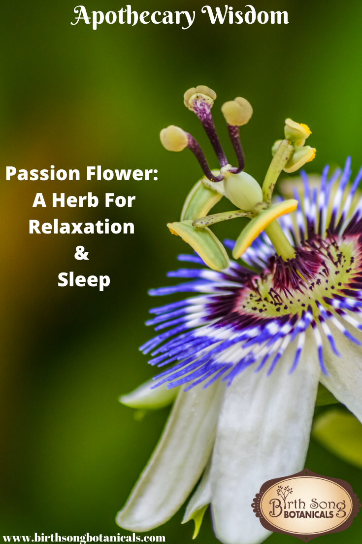 Passion Flower A Herb For Relaxation And Sleep In 2020 Passion Flower Herbs Herbs For Sleep