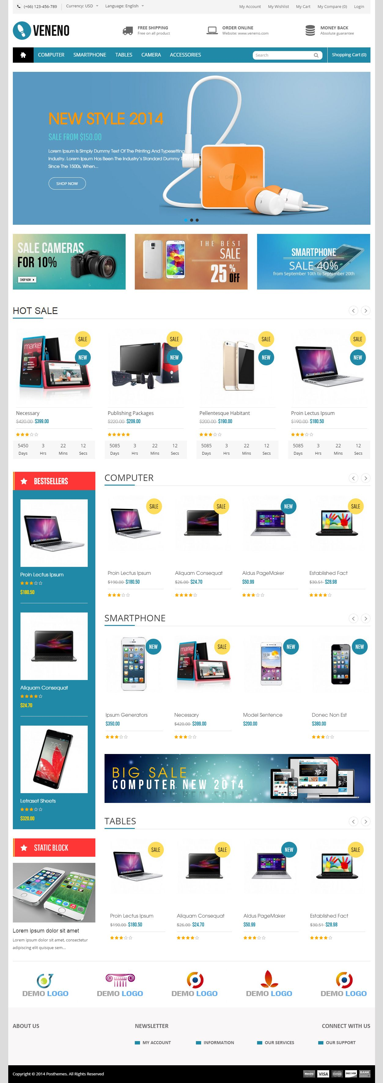 Veneno is Premium full Responsive PrestaShop Multipurpose ...
