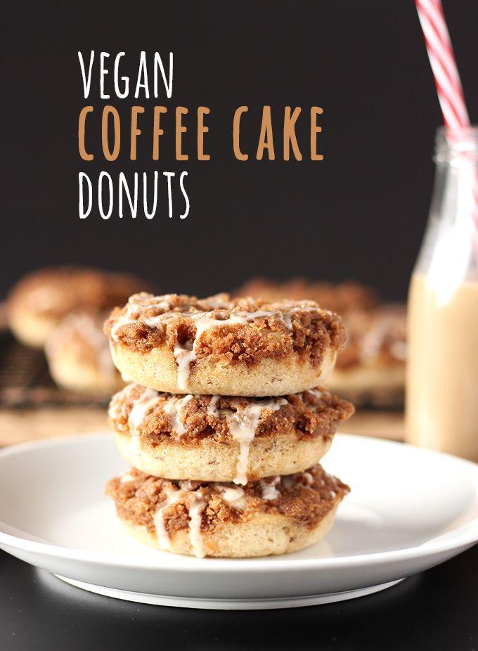 Easy Vegan Coffee Cake Donuts Recipe Vegan Living Pinterest