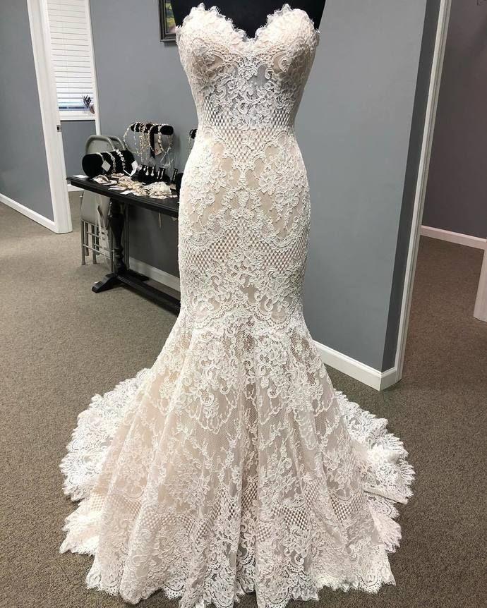 French Lace Mermaid Wedding Dress: Mermaid High Qaulity French Lace Wedding Dress In 2019
