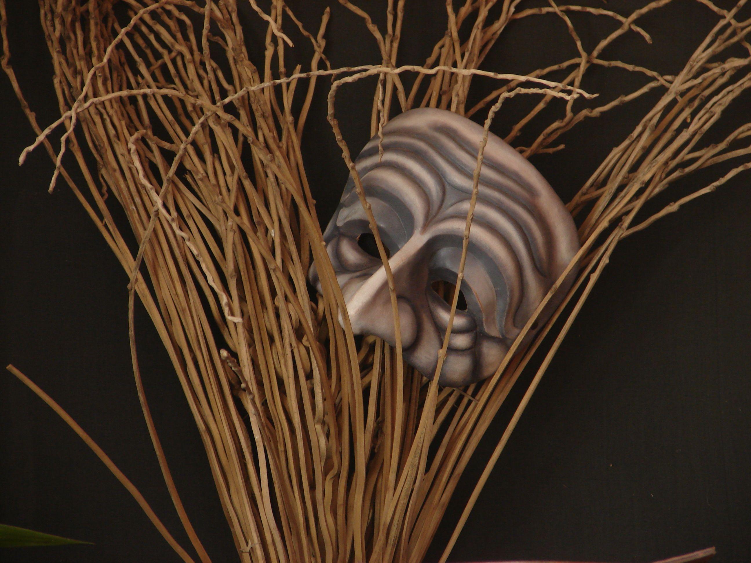 Máscara de cuero para teatro. Artcuero.com