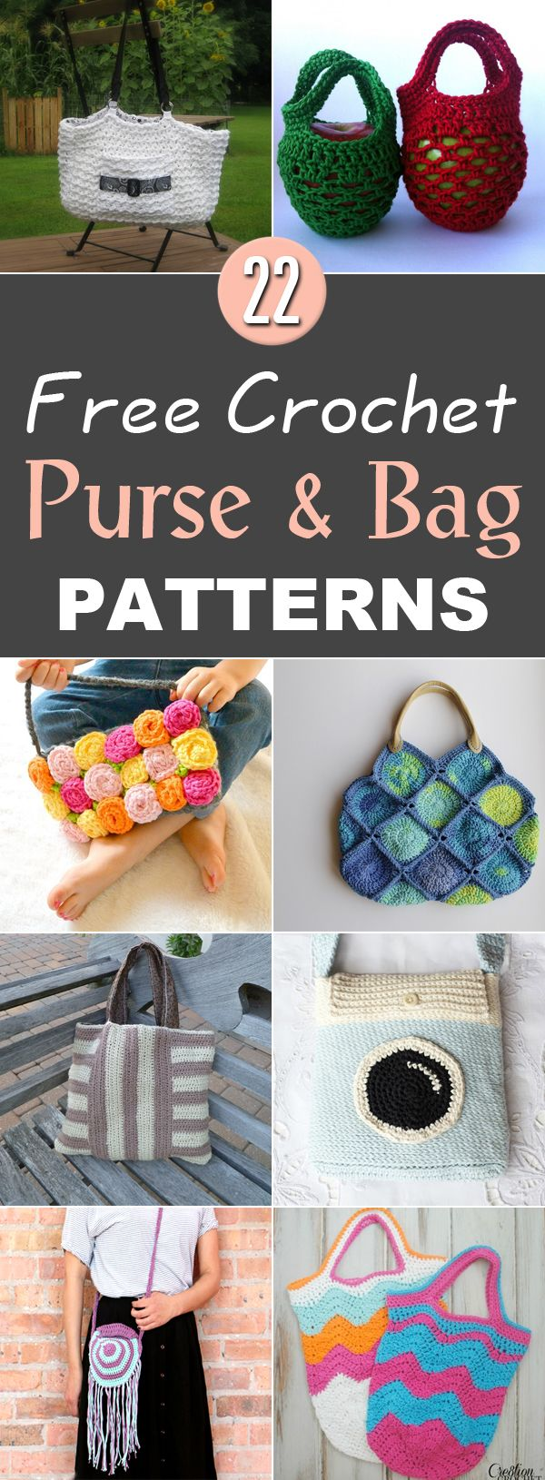 22 Free Crochet Purse & Bag Patterns