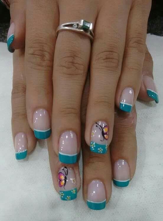 Mariposas | uñas | Pinterest | Mariposas, Diseños de uñas y Manicuras