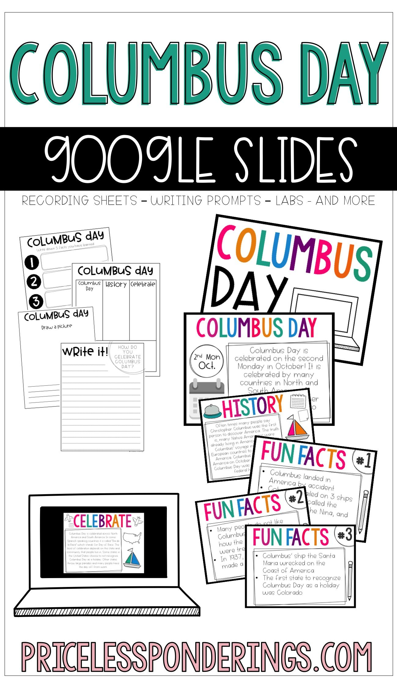 Columbus Day Slides And Activities
