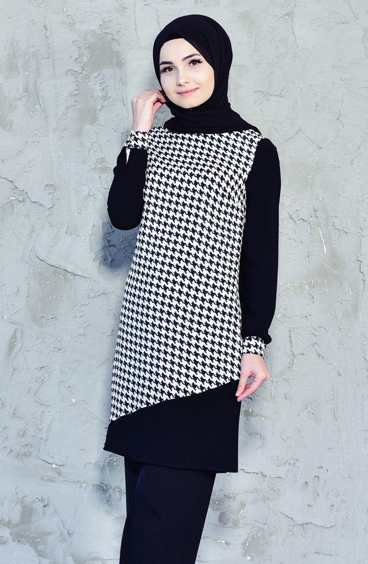 14825781006f6 Siyah Tunik Modelleri ve Fiyatları-Tesettür Giyim-Sefamerve | Kadın ...