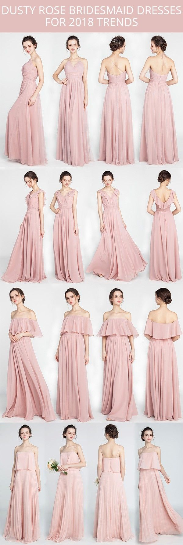 Dusty Rose Bridesmaid Dresses For 2018 Trends Blush Bridesmaid Dresses Pink Bridesmaid Dresses Dusty Rose Bridesmaid Dresses