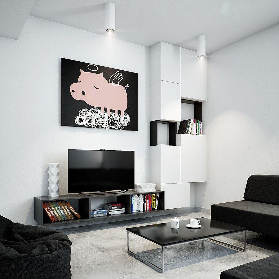 2018 Modular Living Room Cabinets