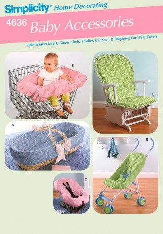 Simplicity Homeware Easy Sewing Pattern 4636 Baby Accessories | Sewing | Patterns | Minerva Crafts