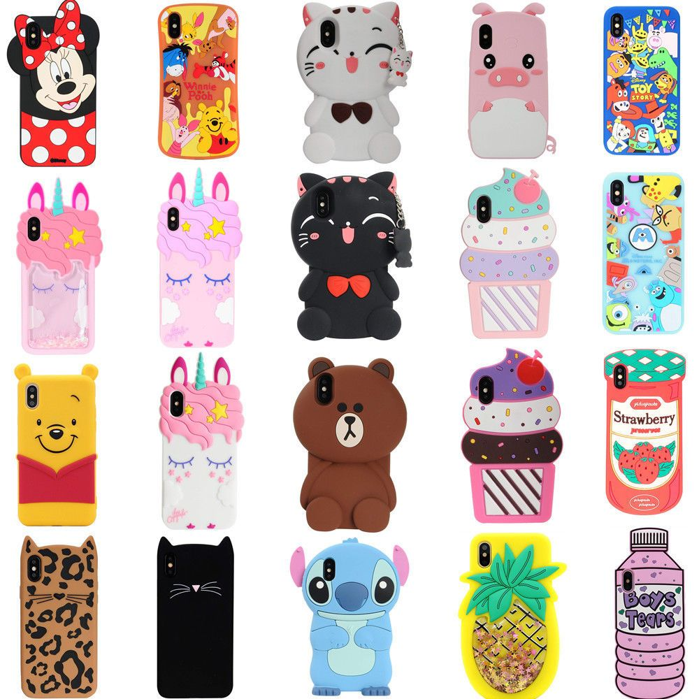 6d607b8368c62f 3D Iphone Cases - 3D Iphone Cases ideas  3DIphoneCases  3DphoneCases 3D  Cartoon Animals Soft