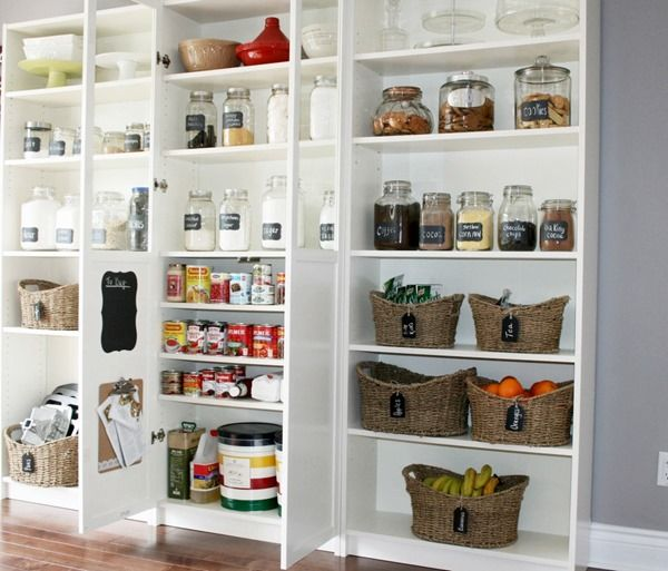 incredible Ikea Pantry Design Part - 11: pantry made with IKEA Billy bookcases