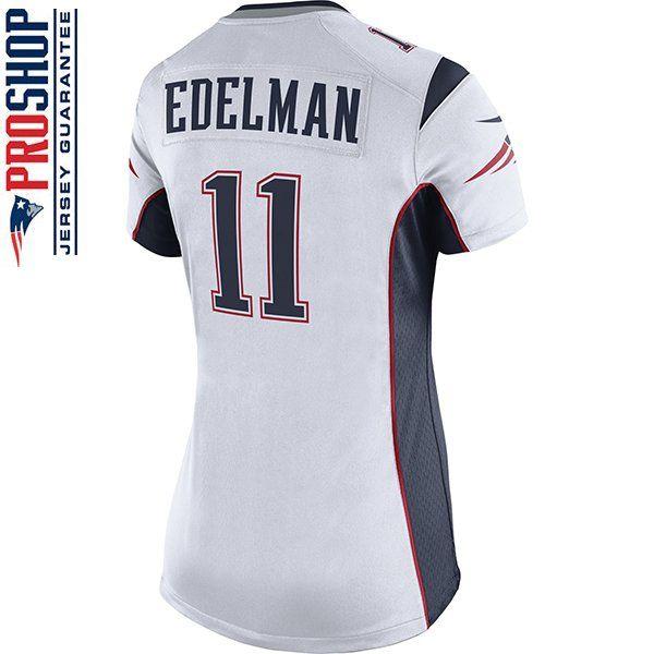 Ladies Nike Julian Edelman Game Jersey White Julian Edelman Edelman Jersey Patriots