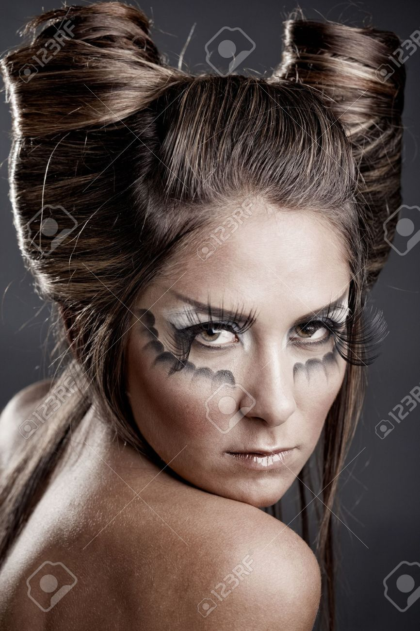 #halloweenmakeup https://watermanshair.com #scarymakeup #happyhalloween #party #HappyHalloween