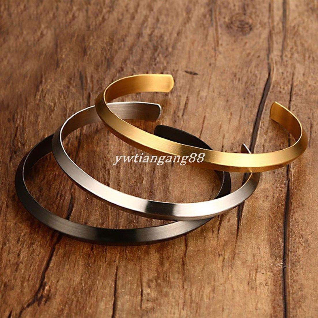 Fashion design stainless steel bracelet women menus open cuff bangle