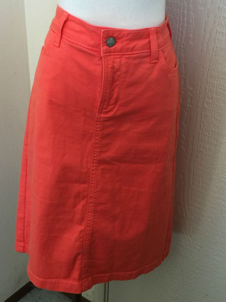NYDJ Not Your Daughter's Jeans size 12 orange lift tuck stretchy skirt  #NotYourDaughtersJeans #Aline
