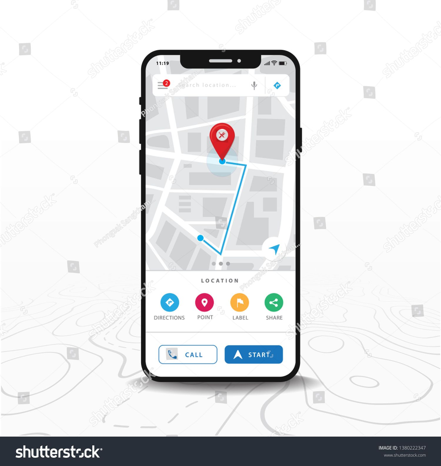 Map Gps Navigation Smartphone Map Application And Red Pinpoint On Screen App Search Map Navigation Isolated On Line Maps B Gps Navigation Gps Map Navigation