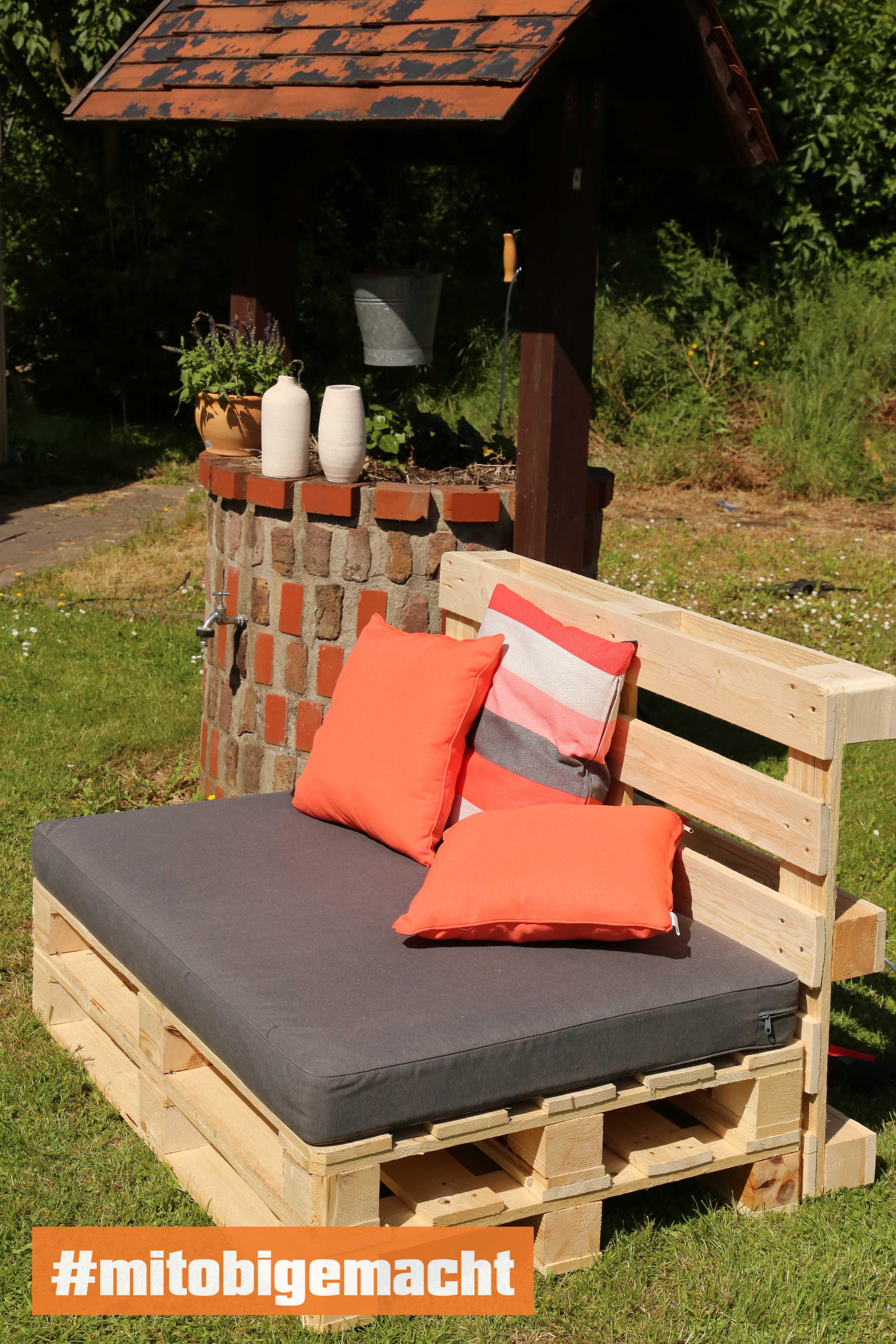 Couch Bankig selber bauen - Palettenmöbel #palettendeko