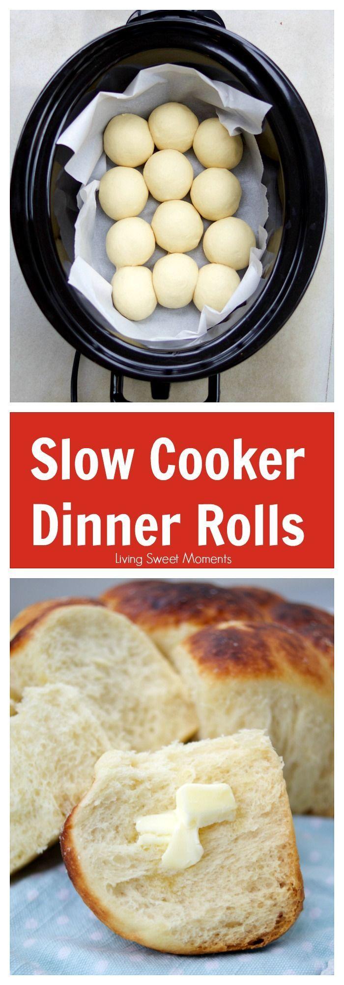 Photo of Easy Slow Cooker Dinner Rolls