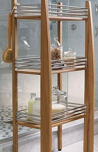 Shower Caddys On Floor | Teak Shower Caddy Floor