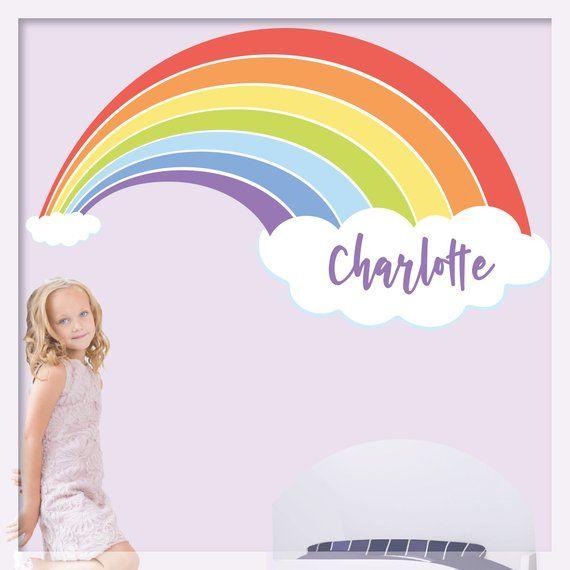 rainbow wall decal for kids rainbow decal rainbow on wall stickers for kids id=20192