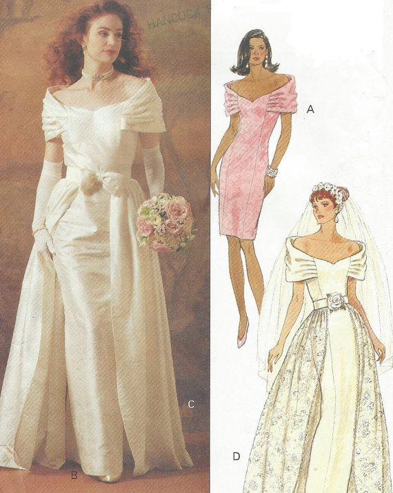 90s Womens Bridal Gown with Detachable Overskirt by CloesCloset ...