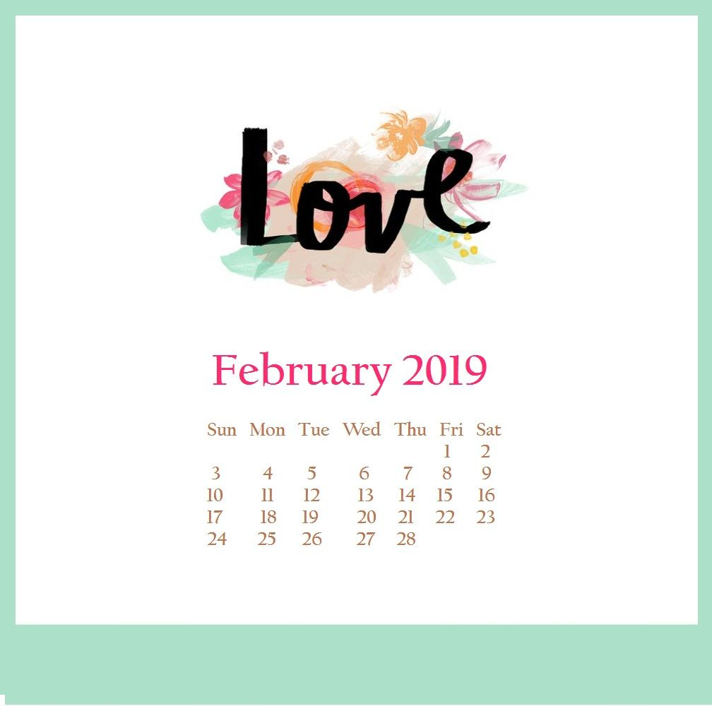 Weight Loss Calendar February 2019 Cute February 2019 Desktop Wallpaper | Monthly Calendar Templates