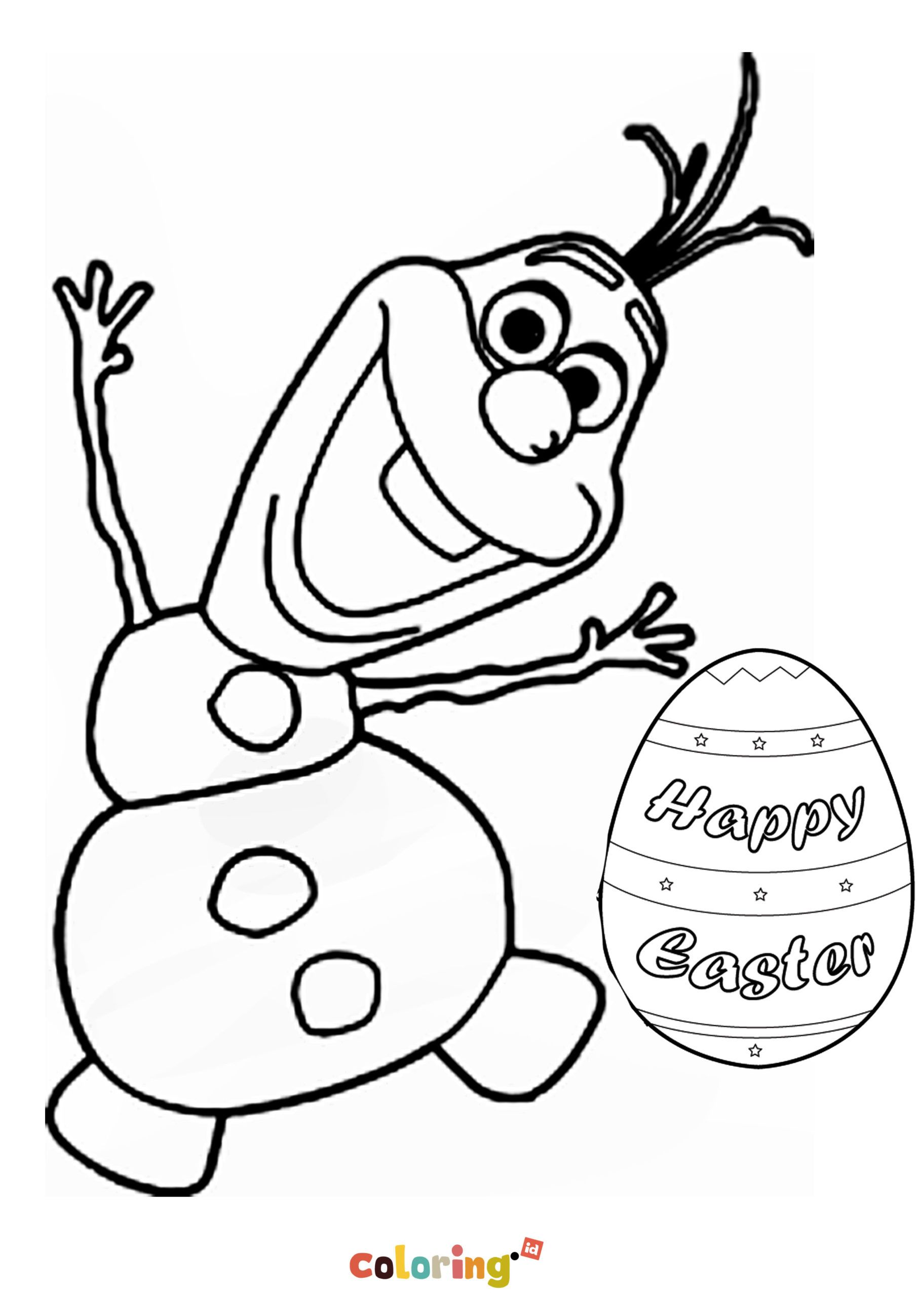 Olaf Happy Easter Egg Coloring Page Cartoon Coloring Pages Easter Egg Coloring Pages Coloring Pages