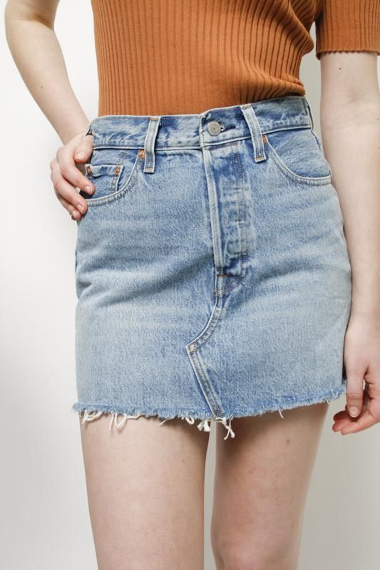 493a7f416 LEVIS DECONSTRUCTED SKIRT | Erotic Drawing Designs | Skirts, Denim ...
