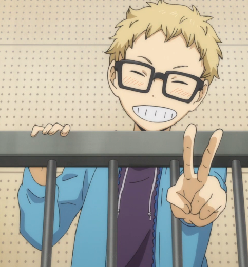 S02E08 Tsukishima was watching his older brother in the