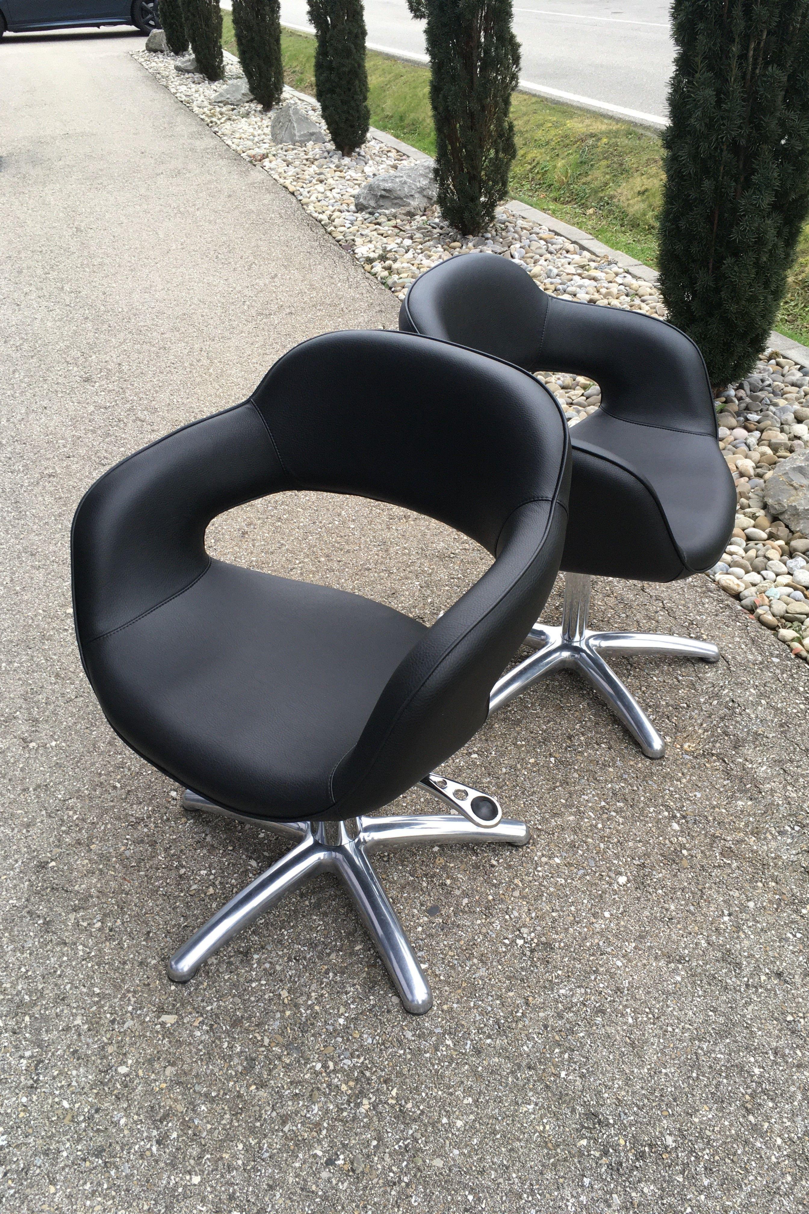 Coiffeurstühle Neu überziehen In Speziellem Kunstleder Polsterei Sessel Neu Beziehen Lederstühle