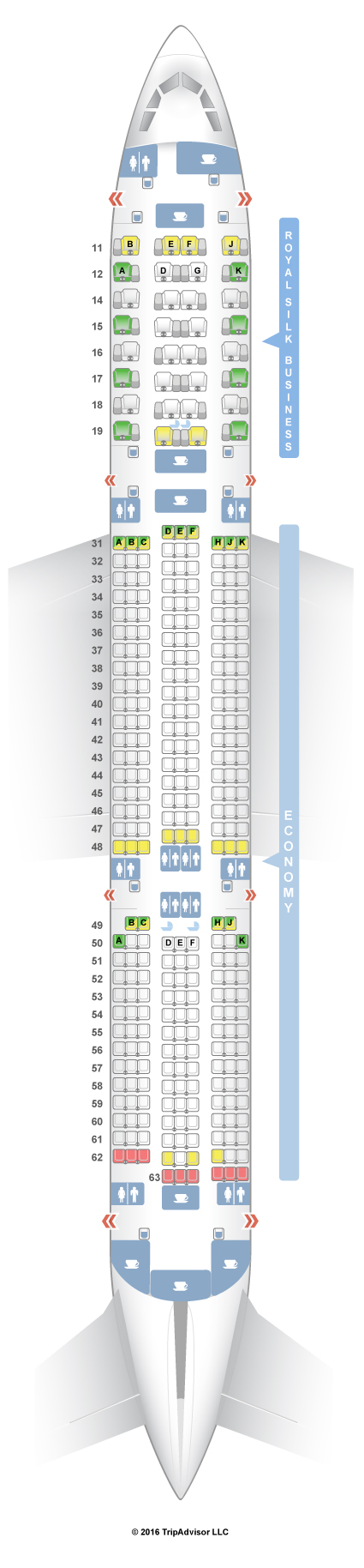 SeatGuru Seat Map THAI Airbus A350-900 (359) - SeatGuru   Reiseziele on