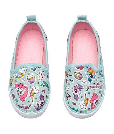 Slip-on Canvas Shoes | Mint/My Little