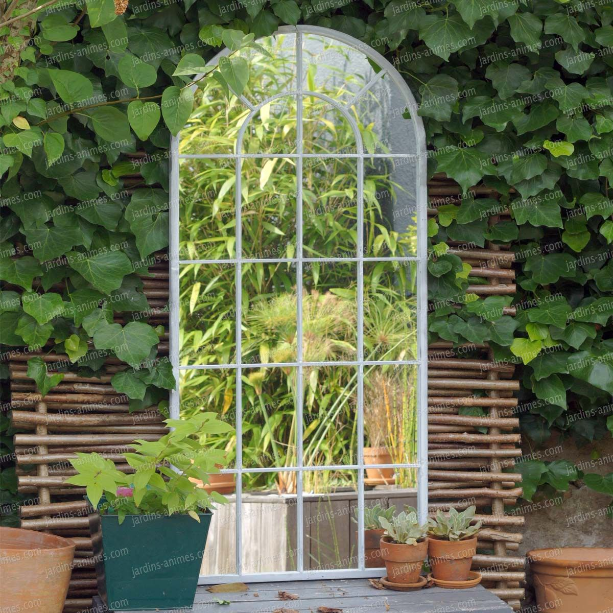miroir de jardin m tal romane x bene. Black Bedroom Furniture Sets. Home Design Ideas