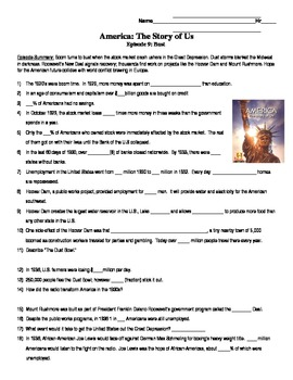 america the story of us episode 9 bust great depression video rh pinterest com Anthem Study Guide Answers Fahrenheit 451 Study Guide Answers