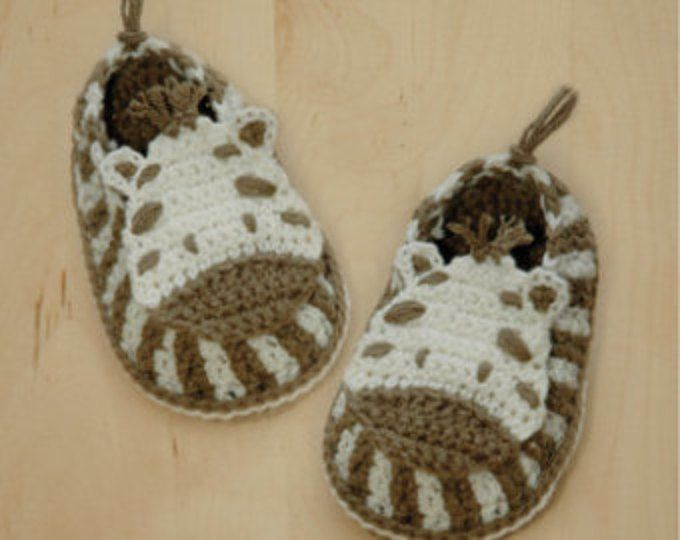 Crochet Patterns for Baby Zebra Crochet Booties Zebra Preemie Socks ...