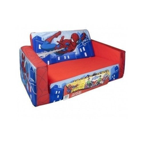 Kids Room Couch Marshmallow Fun Furniture Flip Open Sofa Spiderman
