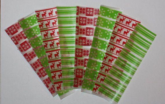 Christmas Reindeer Print Stickers for Erin Condren Life Planner. ECLP. Washi Tape