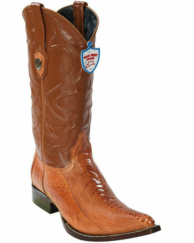 LOS ALTOS MEN CHERRY GENUINE LIZARD RING WESTERN COWBOY J-TOE BOOT EE