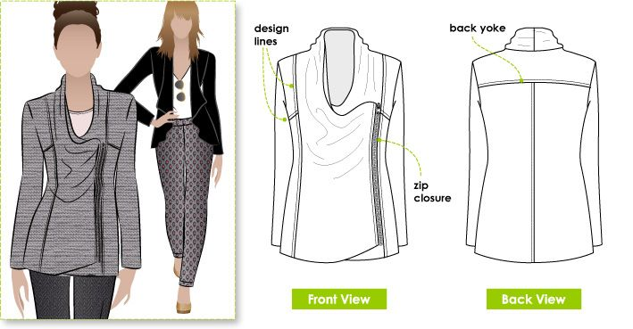 Pattern Reviews> StyleArc> Marie Jacket (Marie Jacket) | Crafty ...