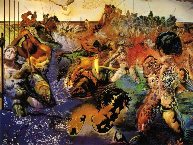 Salvador Dali >> Tuna Fishing, 1967 | (Oil, artwork, reproduction ...