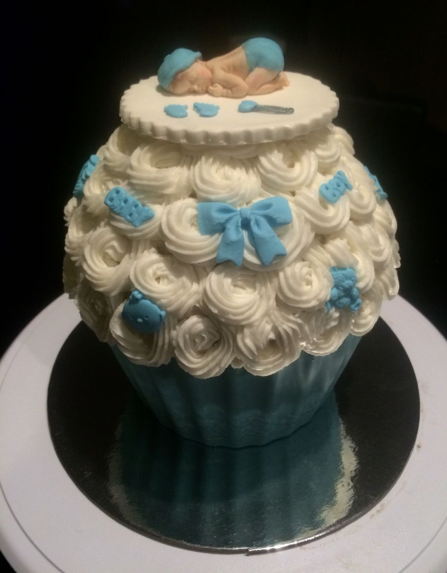 Baby shower giant cupcake giant cupcake cakes giant