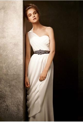 one shoulder // wedding dress