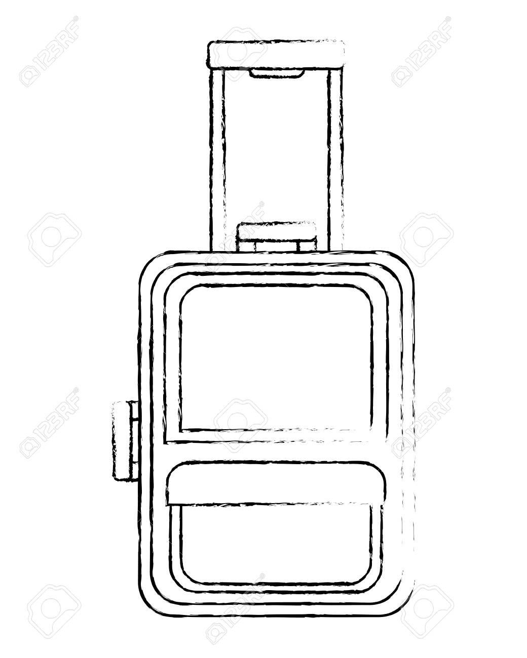 suitcase travel tourism icon vector illustration design ,