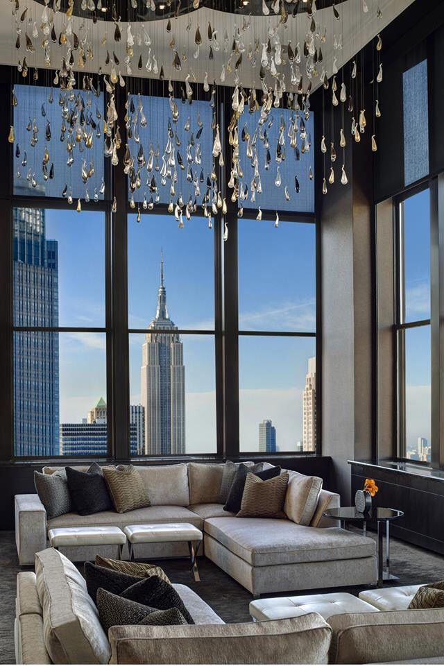 Loving the shimmery chandelier in this new york penthouse the big loving the shimmery chandelier in this new york penthouse the big apple new york aloadofball Image collections