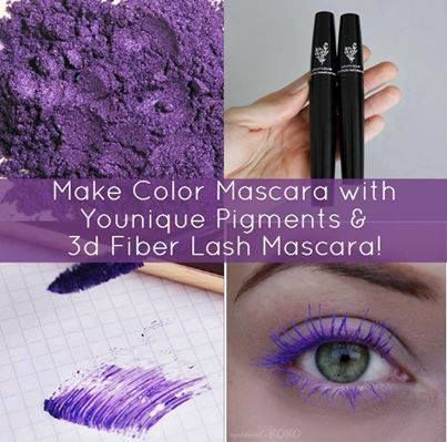 Make colour Mascara with Younique Pigments and 3D Fiber Lash mascara