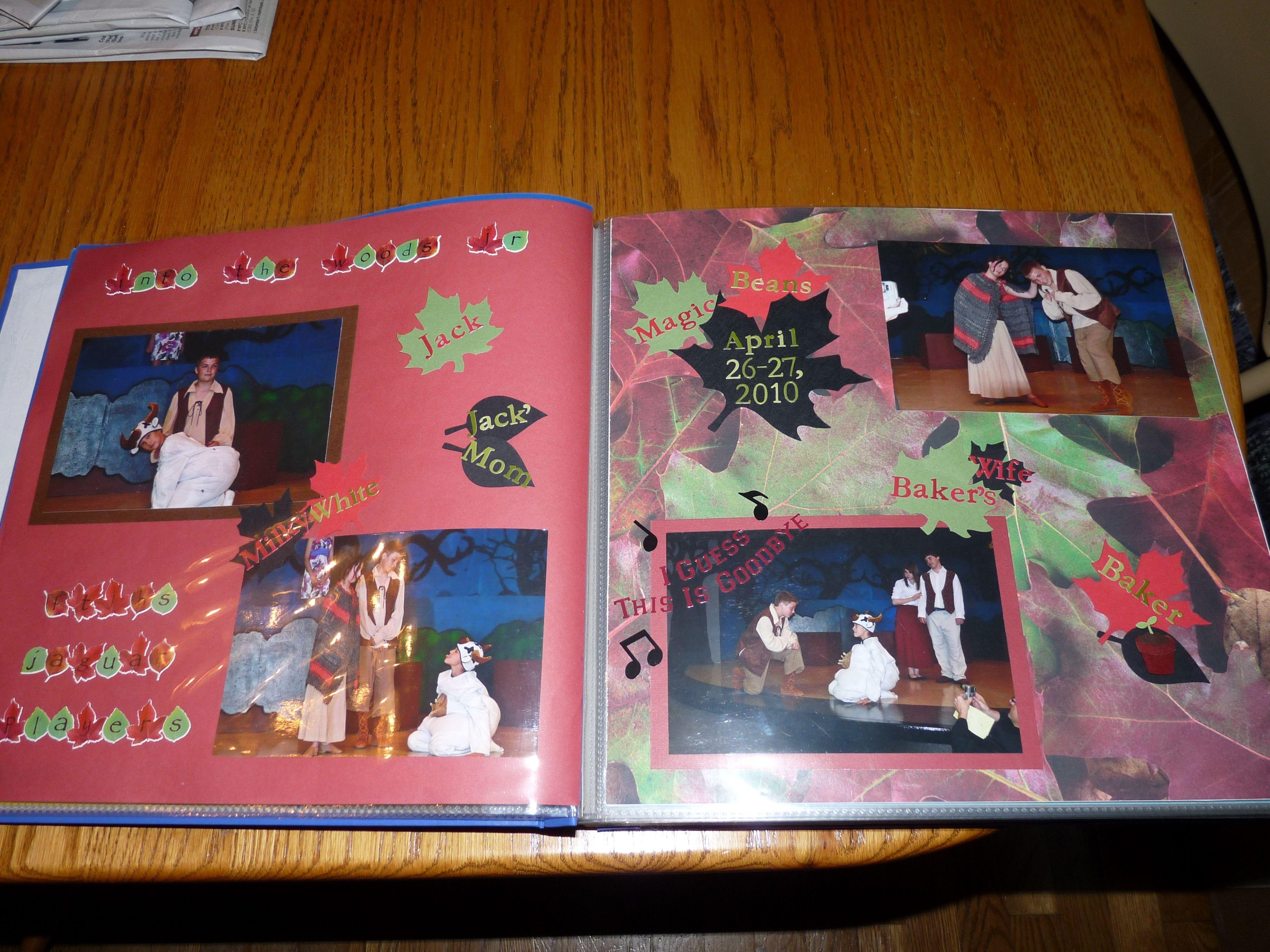 Scrapbook ideas high school - Scrapbook Layout From Erik S Sr Scrapbook Album Theater Drama Club Musical