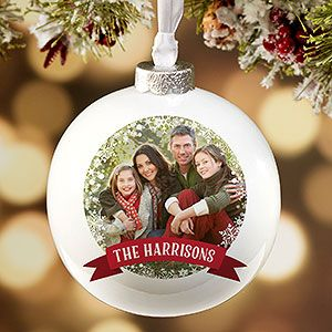 Classic Holiday Personalized Deluxe Ornament Personalized Christmas Ornaments Family Christmas Ornaments Personalized Christmas Ornaments Family