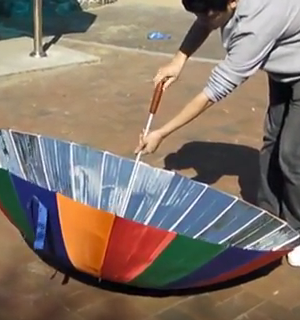 How To Turn An Umbrella Into A Solar Cooker The Good Survivalist Solar Cooker Solar Oven Solar Cooking