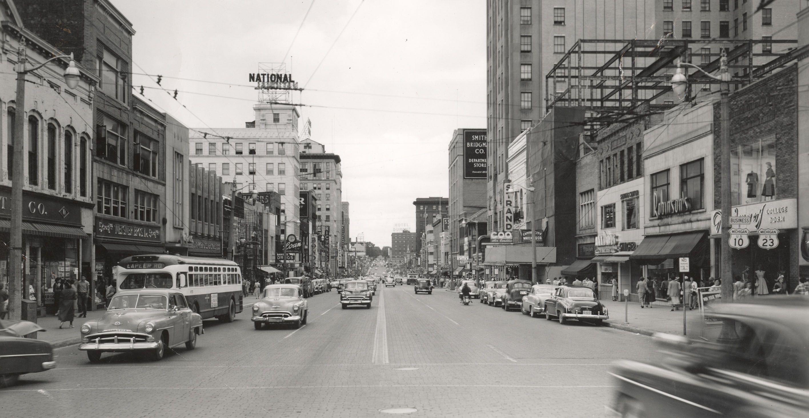 Downtown Flint 1940s 50s Flint Michigan Michigan Flint